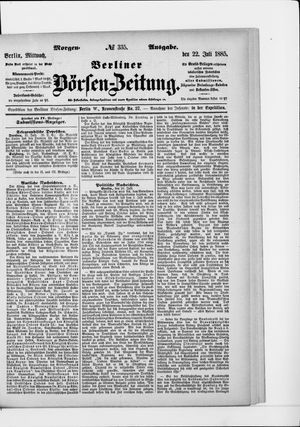 Berliner Börsen-Zeitung vom 22.07.1885