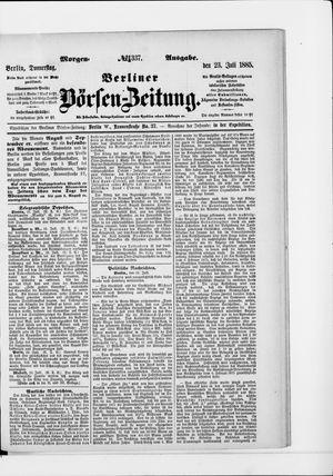 Berliner Börsen-Zeitung vom 23.07.1885