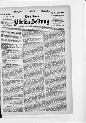 Berliner Börsen-Zeitung vom 24.07.1885
