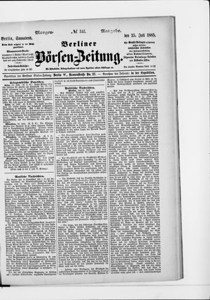 Berliner Börsen-Zeitung vom 25.07.1885