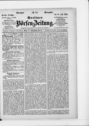 Berliner Börsen-Zeitung vom 28.07.1885