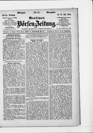 Berliner Börsen-Zeitung vom 29.07.1885