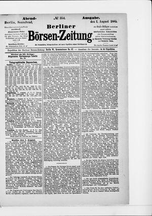 Berliner Börsen-Zeitung vom 01.08.1885