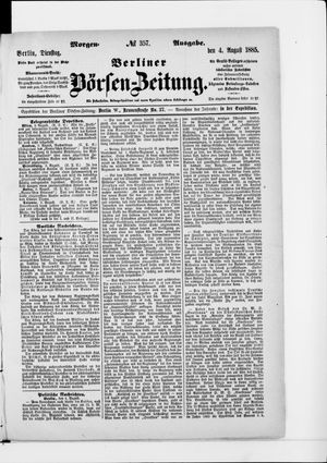 Berliner Börsen-Zeitung vom 04.08.1885