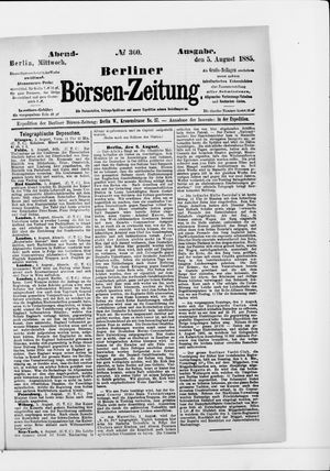 Berliner Börsen-Zeitung vom 05.08.1885