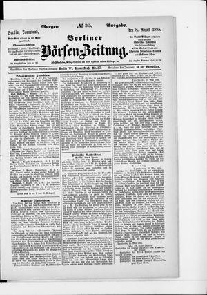 Berliner Börsen-Zeitung vom 08.08.1885