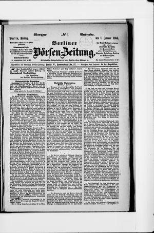 Berliner Börsen-Zeitung vom 01.01.1886