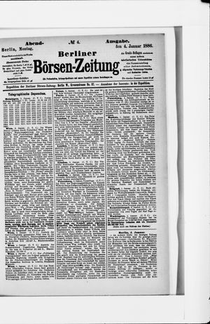 Berliner Börsen-Zeitung vom 04.01.1886