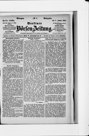 Berliner Börsen-Zeitung vom 05.01.1886