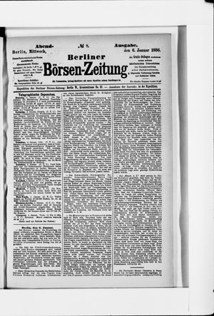 Berliner Börsen-Zeitung vom 06.01.1886
