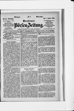 Berliner Börsen-Zeitung vom 07.01.1886