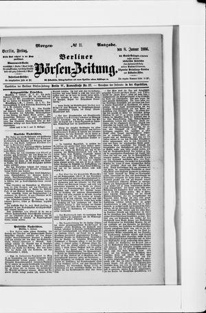 Berliner Börsen-Zeitung vom 08.01.1886