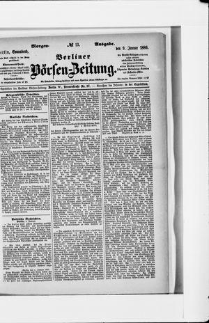 Berliner Börsen-Zeitung vom 09.01.1886