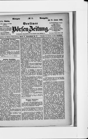 Berliner Börsen-Zeitung vom 10.01.1886