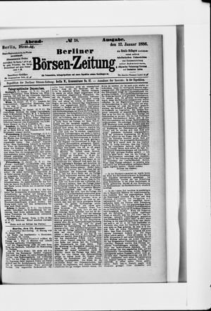 Berliner Börsen-Zeitung vom 12.01.1886