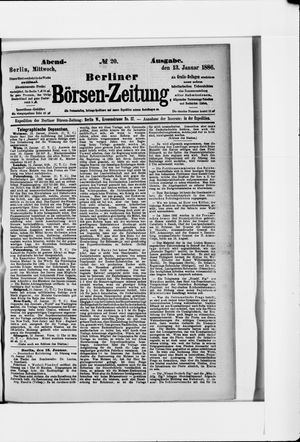 Berliner Börsen-Zeitung vom 13.01.1886