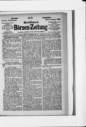 Berliner Börsen-Zeitung vom 14.01.1886