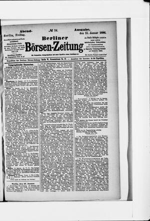 Berliner Börsen-Zeitung vom 15.01.1886