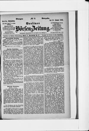 Berliner Börsen-Zeitung vom 16.01.1886