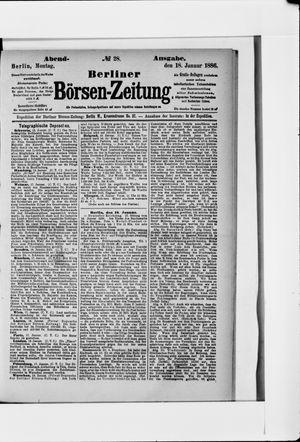 Berliner Börsen-Zeitung vom 18.01.1886