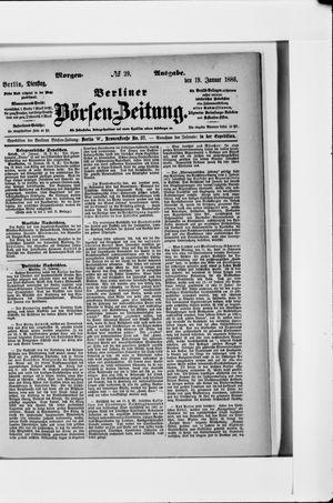 Berliner Börsen-Zeitung vom 19.01.1886