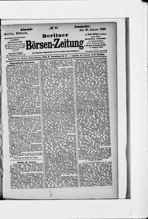 Berliner Börsen-Zeitung vom 20.01.1886