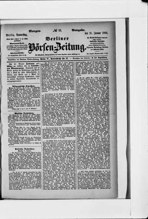 Berliner Börsen-Zeitung vom 21.01.1886