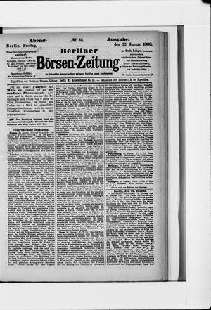 Berliner Börsen-Zeitung vom 22.01.1886
