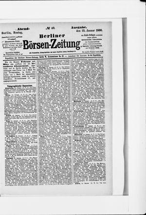 Berliner Börsen-Zeitung vom 25.01.1886