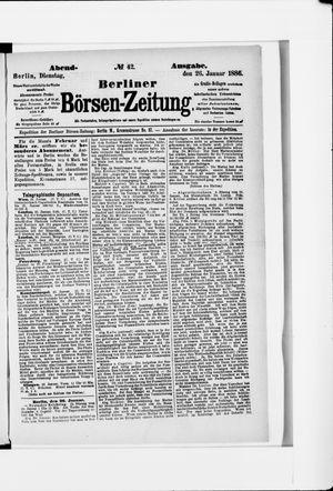 Berliner Börsen-Zeitung vom 26.01.1886