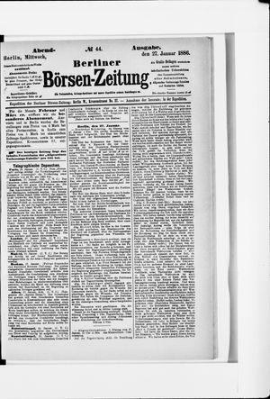 Berliner Börsen-Zeitung vom 27.01.1886