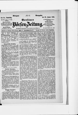 Berliner Börsen-Zeitung vom 28.01.1886