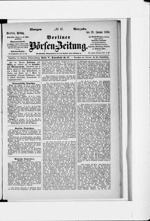 Berliner Börsen-Zeitung on Jan 29, 1886