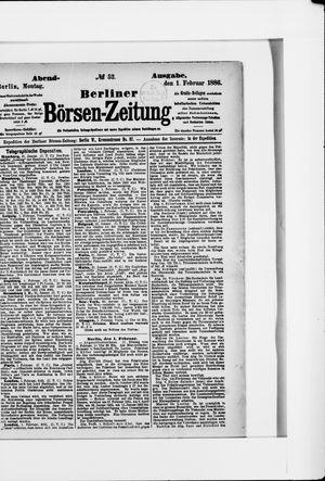Berliner Börsen-Zeitung vom 01.02.1886