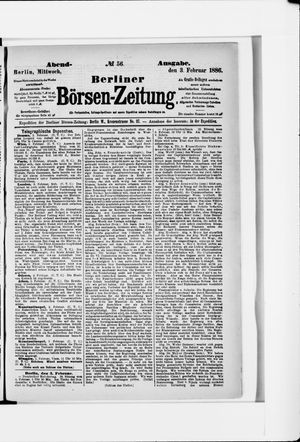 Berliner Börsen-Zeitung vom 03.02.1886