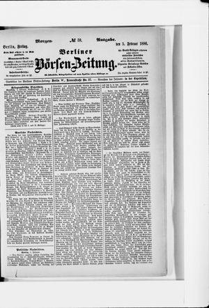 Berliner Börsen-Zeitung vom 05.02.1886