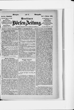 Berliner Börsen-Zeitung vom 06.02.1886