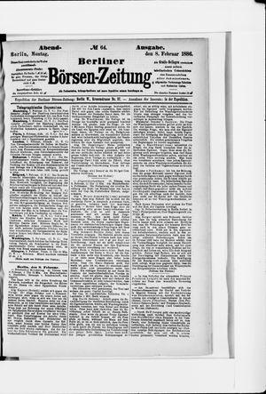 Berliner Börsen-Zeitung vom 08.02.1886