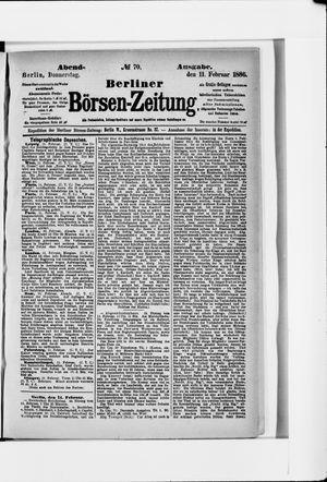 Berliner Börsen-Zeitung vom 11.02.1886