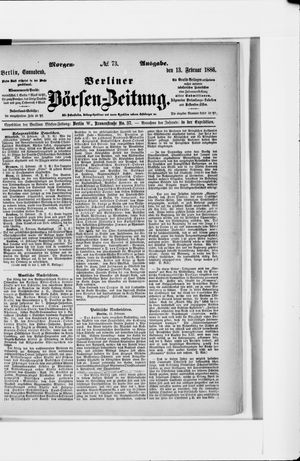 Berliner Börsen-Zeitung vom 13.02.1886