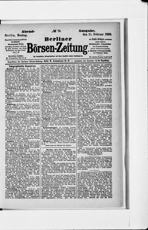 Berliner Börsen-Zeitung vom 15.02.1886