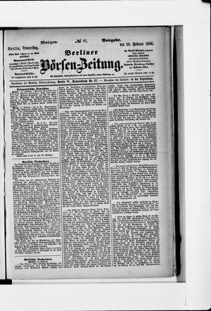 Berliner Börsen-Zeitung vom 18.02.1886
