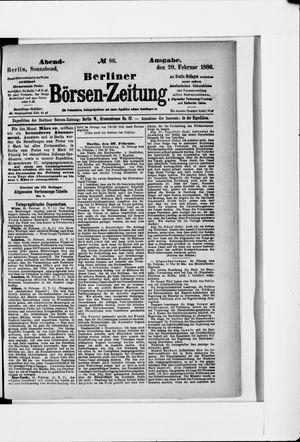 Berliner Börsen-Zeitung vom 20.02.1886