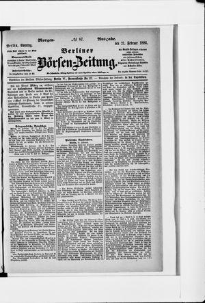Berliner Börsen-Zeitung vom 21.02.1886