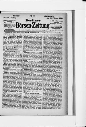 Berliner Börsen-Zeitung vom 22.02.1886
