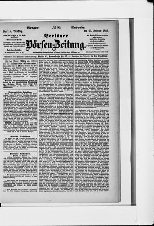 Berliner Börsen-Zeitung vom 23.02.1886