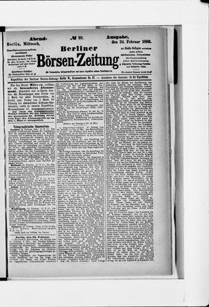 Berliner Börsen-Zeitung vom 24.02.1886
