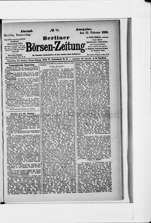 Berliner Börsen-Zeitung vom 25.02.1886