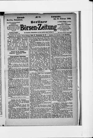 Berliner Börsen-Zeitung vom 27.02.1886