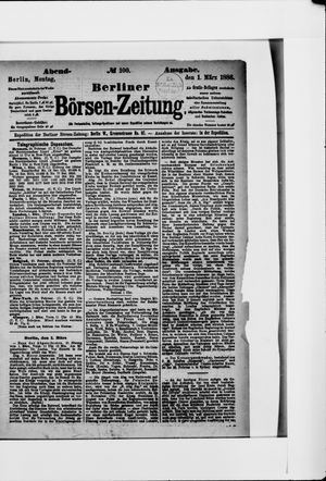 Berliner Börsen-Zeitung vom 01.03.1886